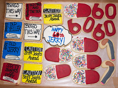 Birthday Cookies - complements of my sister (Donna)