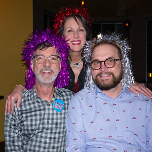 The birthday boy (Jerry) with husband (Wesley) and sister (Donna)