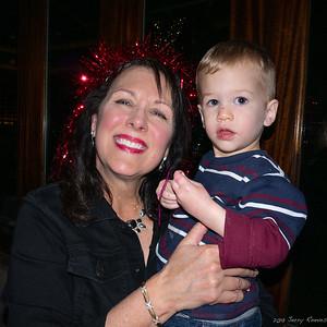 Grandma Donna with big blue eyes, Tripp.