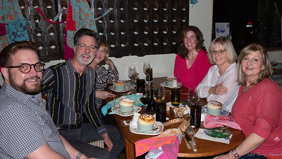 Desert is Served - Wesley, Jerry, Sharon, Dorree, Mette, and Teresa