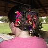 Bron's ridiculous hair.