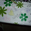 This was one of my favorite ideas: paper table cloth and lots of crayons.