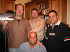 Gil, Pfeifer, Bob and Bob having some awesome eats at Rick and Antonio's.