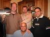 Gil, Pfeifer, Bob and Bob having some awesome eats at Rick and Antonio's.