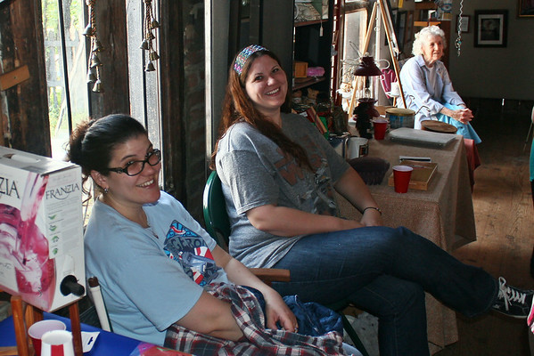 Nicole Campbell, Sabrina Larson. Sina Ryburn in background