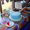 The cake and other goodies.
