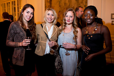Jennifer Pietropaoli, Annelise Bernay, Liz Rowley, and Emma Diouf at the Alliance Française Beaujolais Nouveau Party at the Washington Club on November 18th, 2011.
