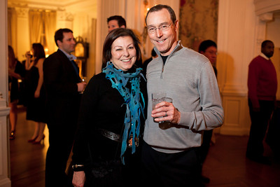 Ana and Bob Gomes at the Alliance Française Beaujolais Nouveau Party at the Washington Club on November 18th, 2011.