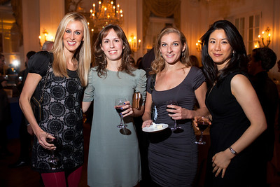 Amy Greywitt, Leslie Schmidt, Laura Begun and Julie Peng at the Alliance Française Beaujolais Nouveau Party at the Washington Club on November 18th, 2011.