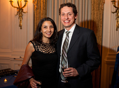 Paula Suarez and Roberto Andrade at the Alliance Française Beaujolais Nouveau Party at the Washington Club on November 18th, 2011.