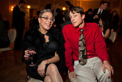 Celeste Castillo and Steven Roman at the Alliance Française Beaujolais Nouveau Party at the Washington Club on November 18th, 2011.