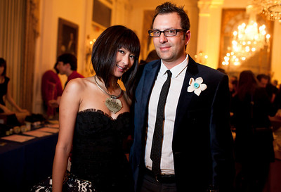 Anchyi Wei-Clements and Michael Clements at the Alliance Française Beaujolais Nouveau Party at the Washington Club on November 18th, 2011.