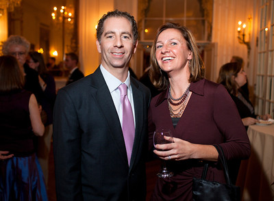 David Ettinger and Jessica Bowman at the Alliance Française Beaujolais Nouveau Party at the Washington Club on November 18th, 2011.