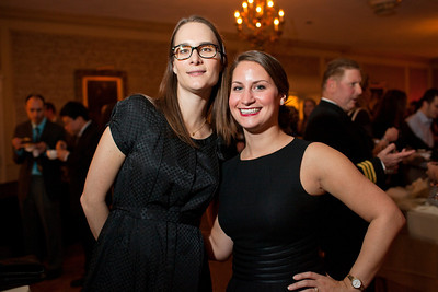 Catherine Sear and Lexi Gordon at the Alliance Française Beaujolais Nouveau Party at the Washington Club on November 18th, 2011.