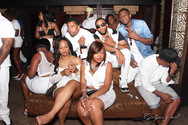 ALL WHITE BUS RIDE AND PARTY @ CLUB TAJ NYC 8/10/14