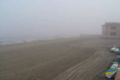 Foggy Morning Beach-p
