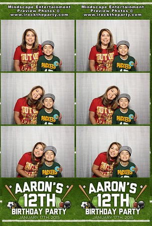 Aarons 12th Birthday Party - Photo Booth Pictures