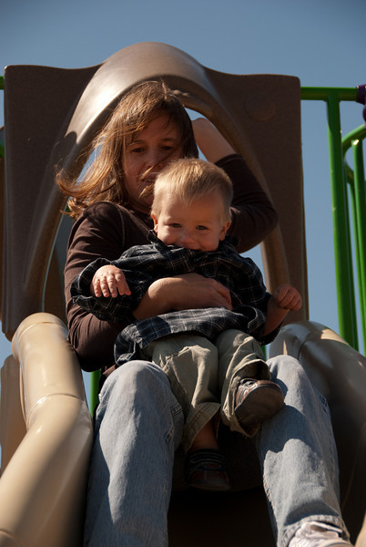 Sepha and Zack take another ride on the slide