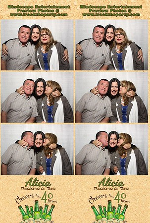 Alicia's 40th Birthday Party - Photo Booth Pictures