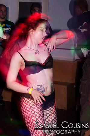 Girl dancing at the Alien Dance Party at Space Gallery