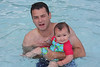Sylvie and Dad in the pool.
