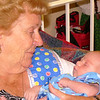 """A special moment between Wes and Great Grandma...who is truly """"Great"""""""