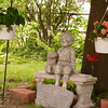 A garden commemorating Dick, is taking shape in Mary Jane's backyard...