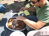 Dave carves up the Turducken<br /> by Garmay Leung