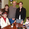 left to right:  Marvel, niece; Pam and Lynden Johnson, nephew, Stacy grand-niece and her son, a great-grand nephew.