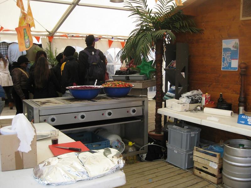 BBQ set-up
