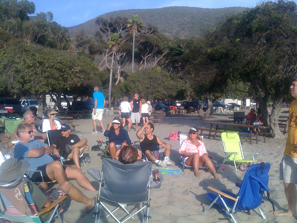 End of Summer Beach Party, 19Sep2009    Conejo Ski & Sports Club - John Perkins Memorial Beach Party, Sycamore Cove, California     [iPhone 3g]