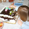 Anna with her favorite food...THE CAKE!