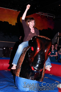 Bullriding at the Tweetup at Binga's