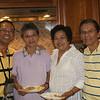 <center>Friday, August 28, 2009: Birthday party for Nanay and Tita Narda. Tito Noli, Tita Narda, Tita Cely, and Dad</center>