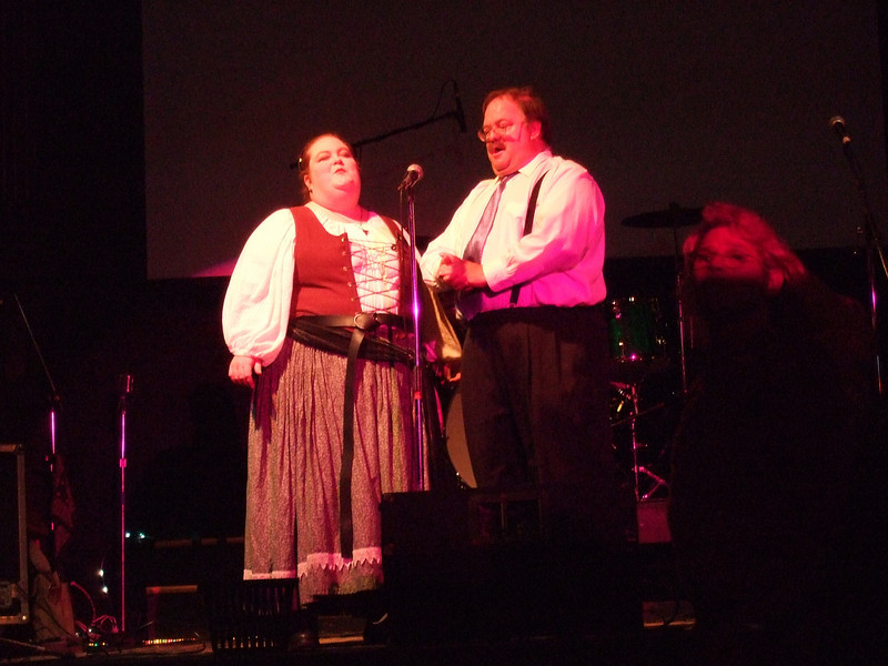 Birthday party and performances for Rudi Columbini. Broadway Studios, San Francisco. Oct 12, 2008<br /> ¥Robert Chase, Miss Litz; sing opera