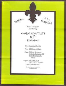 Angelo Minutilli's 80th Birthday