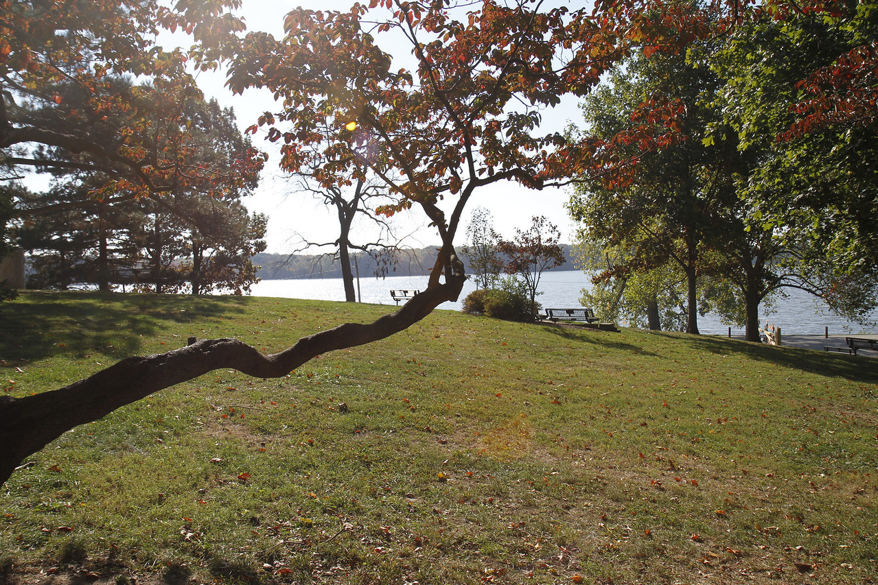 Nelson park overlooking Lake Decatur in October 2011.