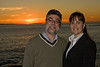 <h2>Ian, Jill and the Sunset - 2</h2>We went down to Laguna for Louise's birthday.  We made sure to arrive in time to enjoy the sunset.  Ian and Jill surprised Louise by meeting us down there.
