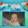 The birthday cake.