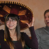 ...and that's when the singing started.  Laura graciously wears the Sombrero.