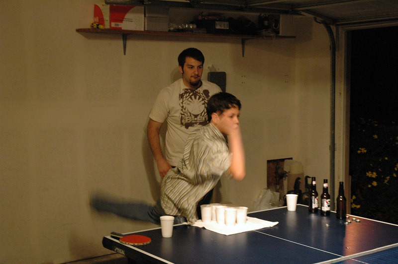 Rey played beer pong, but didn't drink of course.