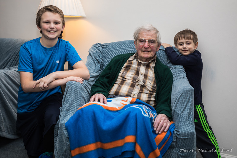 Ben, CJ along with grandpa.