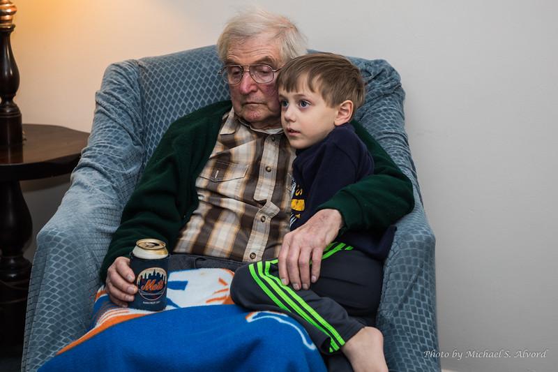 CJ with great grandpa.