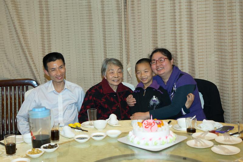 Grandma and 加儿姐一家