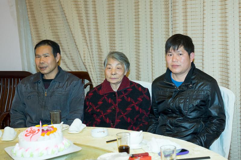Grandma and 叔叔们