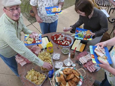 Kelham Vineyard lunch spread courtesy of Rich and Karen