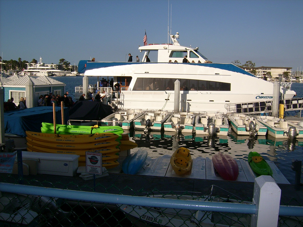 Our ship, the 'Christoph'.  A small Catamarran.