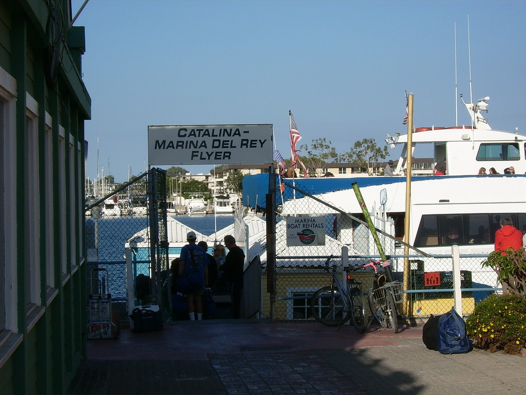 We're starting to board our boat for the trip to Catalina Island.