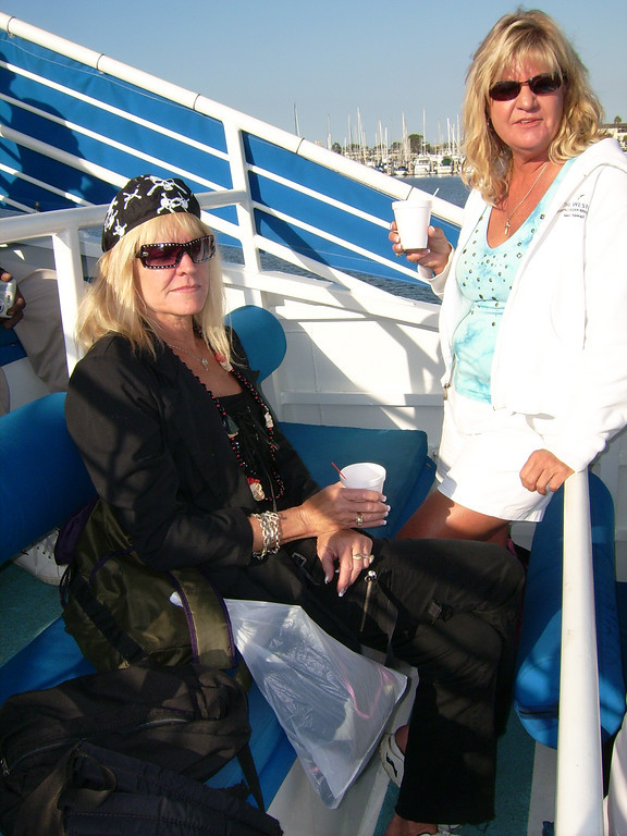 Lynn Lepre and Jane Watson (let's get this boat moving).