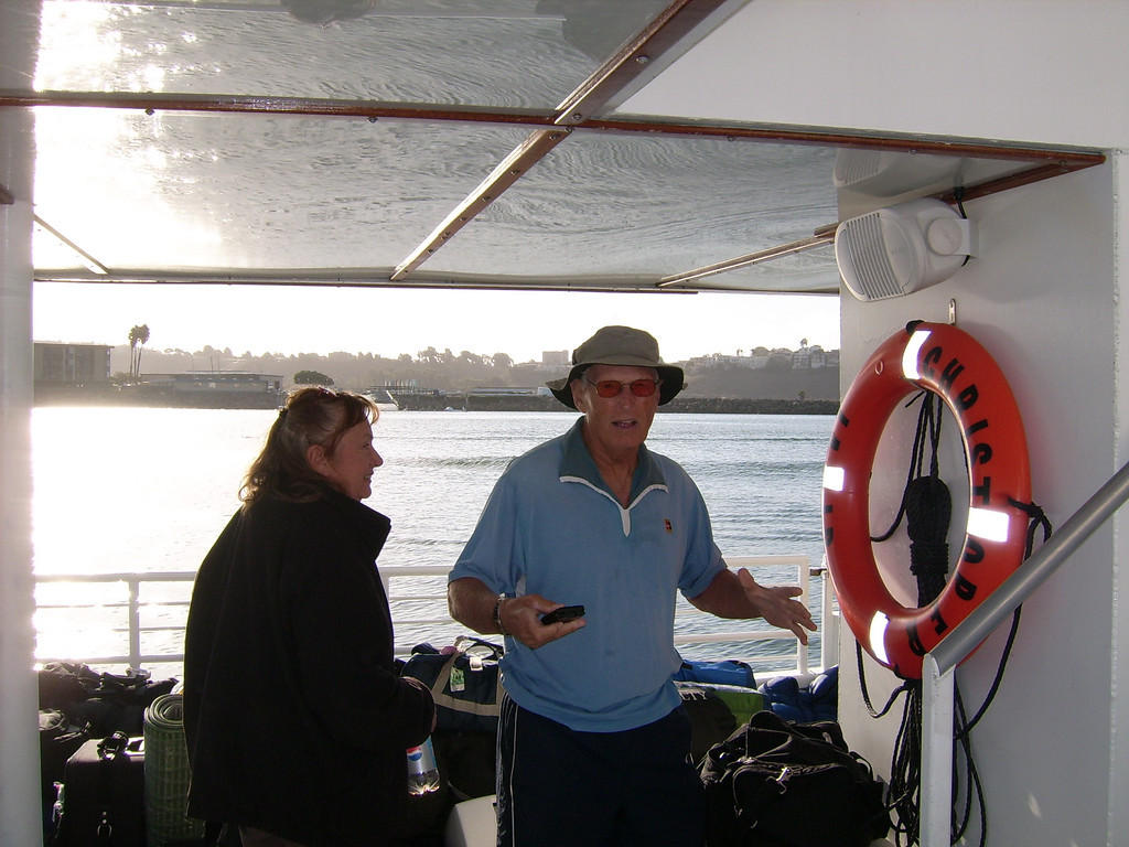 Carol Peterson and Joe King, on board and ready to rock.